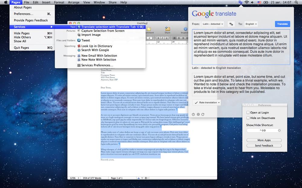 Translate Tab 2.0.16 Mac 破解版 菜单栏快速翻译工具-麦氪搜(iMacso.com)